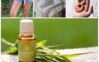 Citronella essential oil against mosquitoes