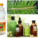 Essential oils, needles and vinegar