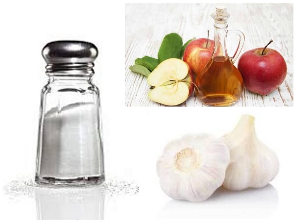 Etiķis, sāls un ķiploki